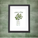 Parsley Herb A4  Print Herbal Kitchen Botanical Botanica Leaves Garden