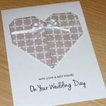 Wedding Day card - Origami heart