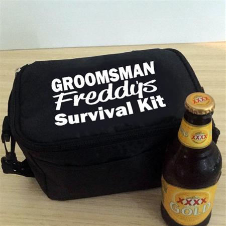 Personalised Cooler Bag; Bridal party gift;Groom Survival Bag;Beer cooler;Groom