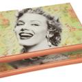 Marylin Vintage Keepsake Trinket Treasure Jewellery Memory Wooden Box