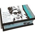 Audrey Classic Beauty Keepsake Trinket Treasure Jewellery Memory Wooden Box