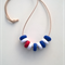 Me hearty nautical polymer clay necklace