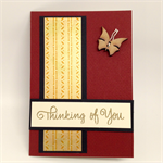 Thinking of You Card - Shimmer Gold Japanese Paper