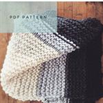 Pdf Knitting Pattern - Cascades Chunky Blanket - Pattern Only