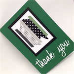 Thank You Card - Forest Green