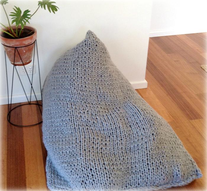 Pdf Knitting Pattern - Shavasana Knitted Beanbag - Pattern