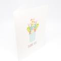 Thank You Card, Floral Arrangement in Mason Jar, THY027