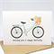 Birthday Card Female - Coral and Mint Bicycle with Flowers - HBF162