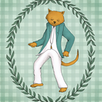 Cool Cat 8 x 10 inch Print Nursery Boys Bedroom Art   Nursery Decor Dancing Cat