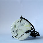 "Polymer Clay ""Marble Pattern"" Pendant Necklace"