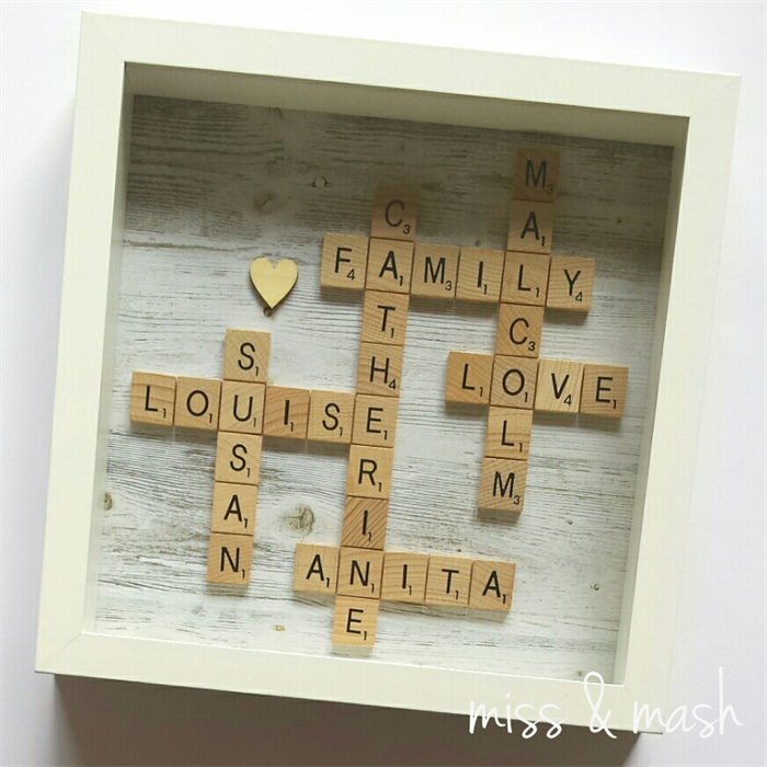 Custom Made Family Name Frame Personalised Scrabble Art