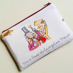 Willy Wonka Roald Dahl inspired reading literature purse clutch