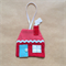 Gingerbread House Christmas Decoration | Fabric tree decoration