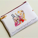Willy Wonka Roald Dahl inspired reading literature purse clutch