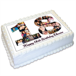 Birthday Collage Photo Personalised A4 Edible Icing Cake Topper - 18th, 21st