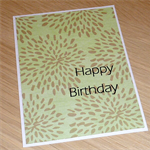 Female Happy Birthday card - modern floral design