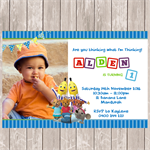 Bananas in Pyjamas Photo Personalised Birthday Invitation - YOU PRINT