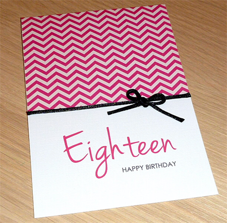 Girls 18th Birthday card - OR can be any age!