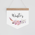 Personalised Banner - floral watercolour Boho. Wall hanging.