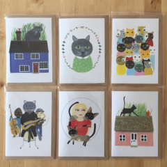 'Cat Lovers' card set