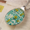 Upcycled/recycled vintage spoon resin pendant necklace, tree, city, print