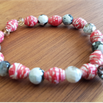 Roses are Red AYA Bracelet - Handcrafted Beads - Great Christmas Gift