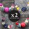 x 2 BEST friend Deal. Handpainted beaded necklace