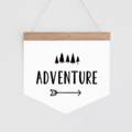Wall Banner - Monochrome Adventure. Wall hanging.