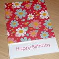 Happy Birthday card -  spring flowers