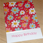 Happy Birthday card -  spring flowers