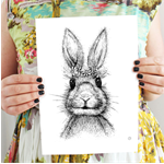 Daisy Chain - Rabbit print - A3