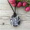 Black and white drop pendant