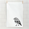 Scarlet robin screen printed linen tea towel
