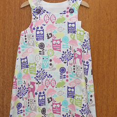 Forest Animals A-Line Dress. Size 5