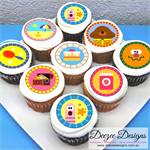 "Hey Duggee Edible Icing Cupcake Toppers - 2"" - PRE-CUT"