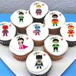 "Superhero Personalised Edible Icing Cupcake Toppers - 2"" - PRE-CUT"