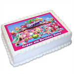 Shopkins Personalised A4 Edible Icing Cake Topper