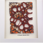 'Stem'  Brown textile art