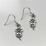 Flower Drop Dangle Earrings,Daisy Charm,Handmade Ladies Jewellery,Tibetan Silver
