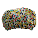 Wildflowers Shower Cap Soft Laminated Cotton waterproof and washable