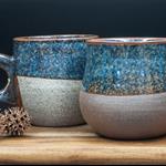 Made to order: 300 mL/10.1 oz Viking mug. Large. Choice of clay & colour.