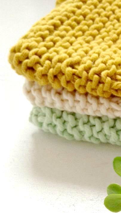 Baby Washcloth Knitting Pattern Two Sizes Diy Knitting Baby