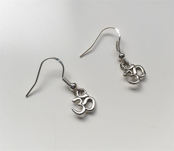 additional a in silver precious gold stud drop choice or om symbol of metal earrings