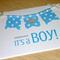 It's a Boy - congratulations card - handmade