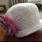 Crochet Baby Sunhat, Newborn, Girl