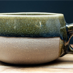 Made to order: 200 mL/6.8 oz Viking mug. Choice of clay & glaze colours.