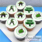 "The Incredible Hulk Personalised Edible Icing Cupcake Toppers - 2"" - PRE-CUT"