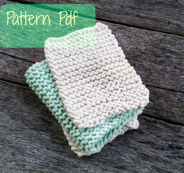 Baby Washcloth Knitting Pattern Two Sizes Diy Accessories