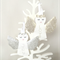 Christmas angel decoration, white, gold, silver, Joy, Love