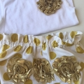 Size 0 (6 to 12 Months) Nappy Pants and Singlet in Gold